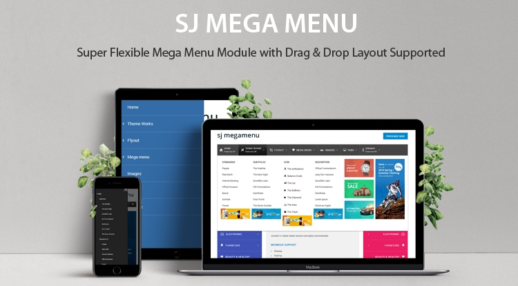 SJ Mega Menu - Joomla! Extension