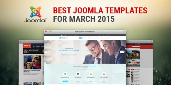 Best Responsive Joomla Templates for March 2015