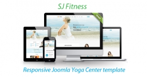 SJ Fitness - A Responsive Joomla Yoga Center Template