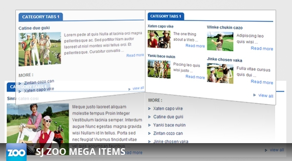 SJ Zoo Mega Items - Joomla! Module