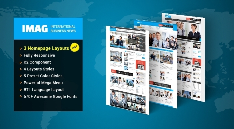 SJ iMag - New Brand for News/Magazine Joomla Template Collection