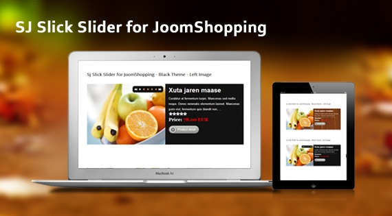 SJ Slick Slider for JoomShopping - Joomla! Module