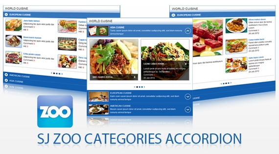 SJ Zoo Categories Accordion - Joomla! Module