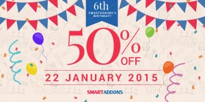 Celebrate SmartAddons's 6th Anniversary with 50% OFF in only ONE day