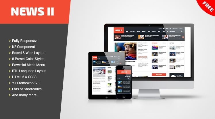 SJ News II - Free Outstanding Responsive Joomla Theme for News/Magazine Sites