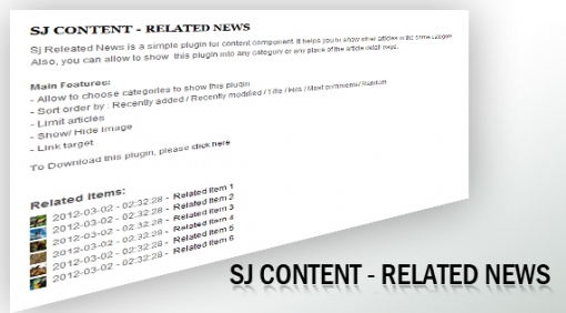 Sj Content Related News - Joomla! Plugin