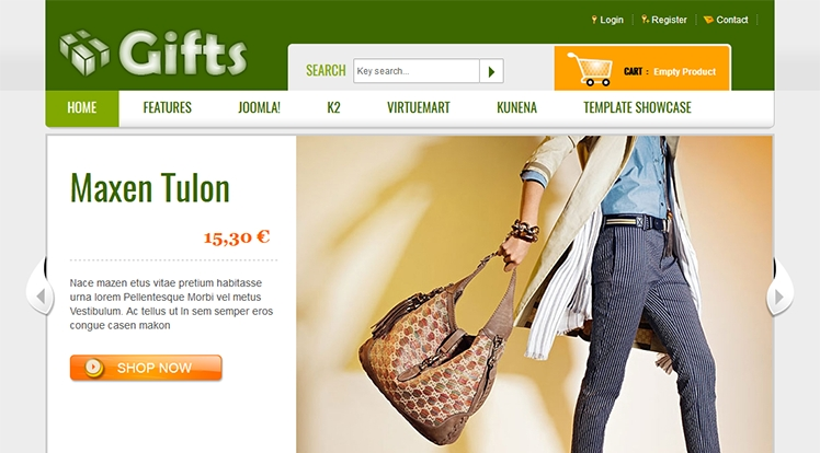 SJ Gifts - Joomla! Template