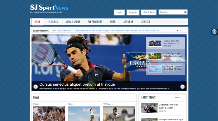 SJ Sport News - Joomla! Template