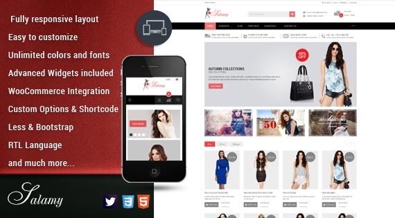 Stunning Responsive WordPress Theme for Fashion stores - SW Salamy