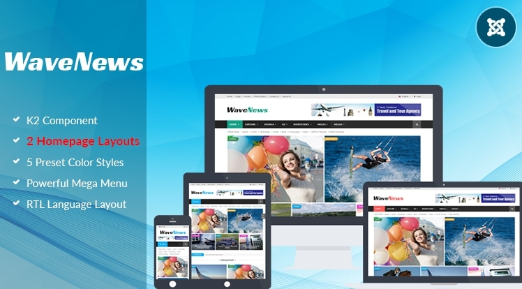 SJ WaveNews - Feature-rich News/Magazine Joomla Template