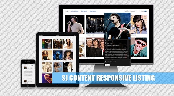 SJ Content Listing - Responsive Joomla! Module