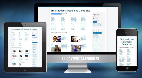 SJ Content Category - Joomla! Module