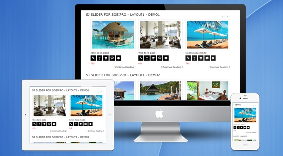 SJ Slider for SobiPro - Responsive Joomla! Module