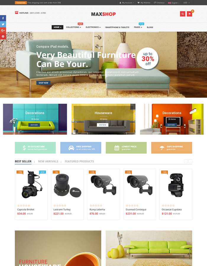 Best Shopify Themes for Furniture Stores