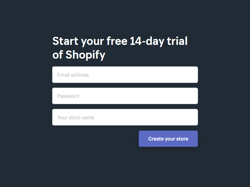 Shopify Free Trial 14 Days