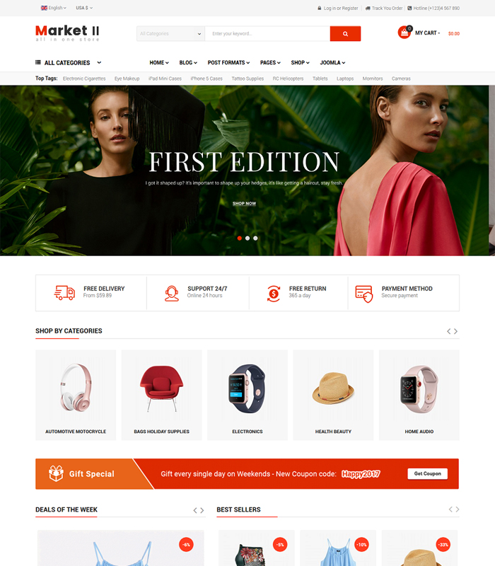 Best Responsive eCommerce Joomla Templates You Must Have in 2018