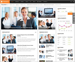 Responsive Joomla Financial Template - SJ Financial III