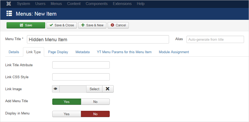 Why and How to Create Hidden Menu Items in Joomla 3.x & Joomla 4