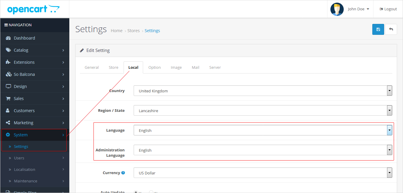 How to Install New Language in Opencart 3.x