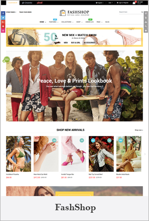 FashShop - Multipurpose Sectioned Drag & Drop Bootstrap 4 Shopify Theme