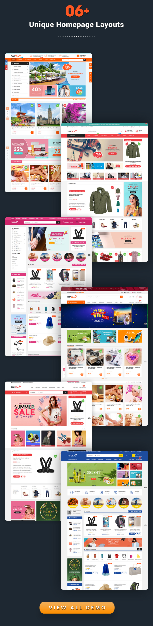 TopDeal - Responsive MultiPurpose HTML 5 Template (Mobile Layouts Included)