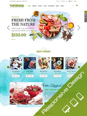 Sj TopzFood - Delicious Food & Restaurant Joomla VirtueMart Template