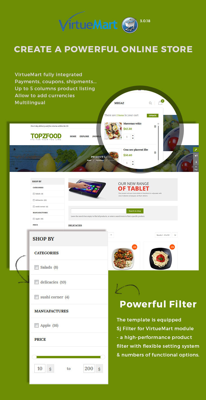Sj TopzFood - Delicious Food & Restaurant Joomla Template