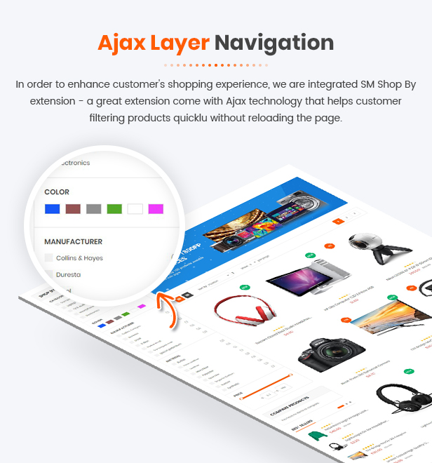 SM Shopping - ajax layer navigation