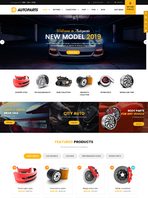 AutoParts - Best Selling Shopify Theme