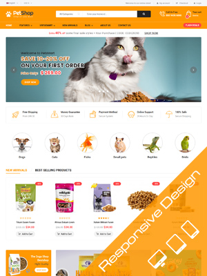 Sj PetShop - Pet Food, Pet Shop Joomla Template