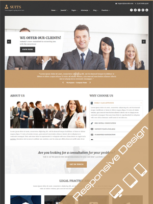 Sj Suits - Responsive Attorneys and Law Firms Joomla Template
