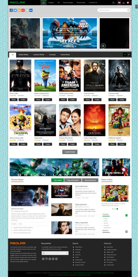 SJ Asolar - Responsive Joomla Movie Template - 04-green.jpg