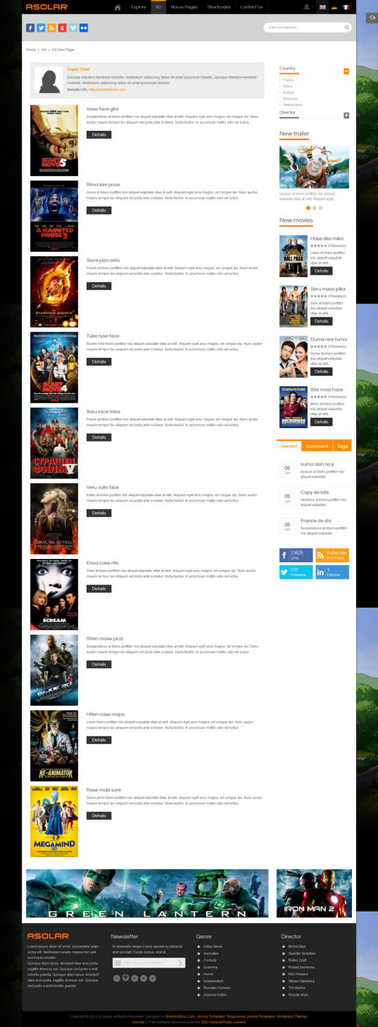 SJ Asolar - Responsive Joomla Movie Template - 08-k2-user.jpg