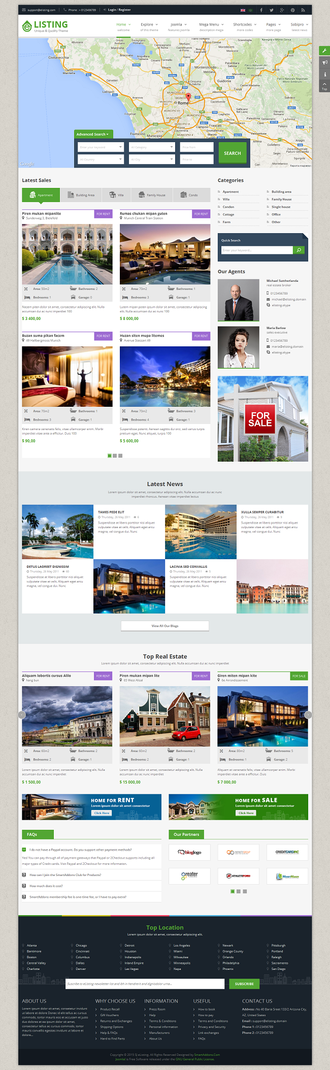 SJ eListing - Responsive Joomla Estate Template - 04_index-framed-layout.png