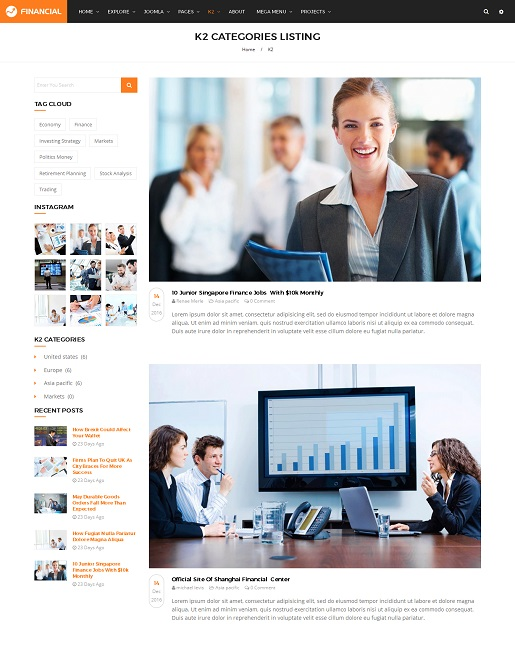 SJ Financial III - Responsive Business & Financial  Joomla Template - 02_listing.jpg