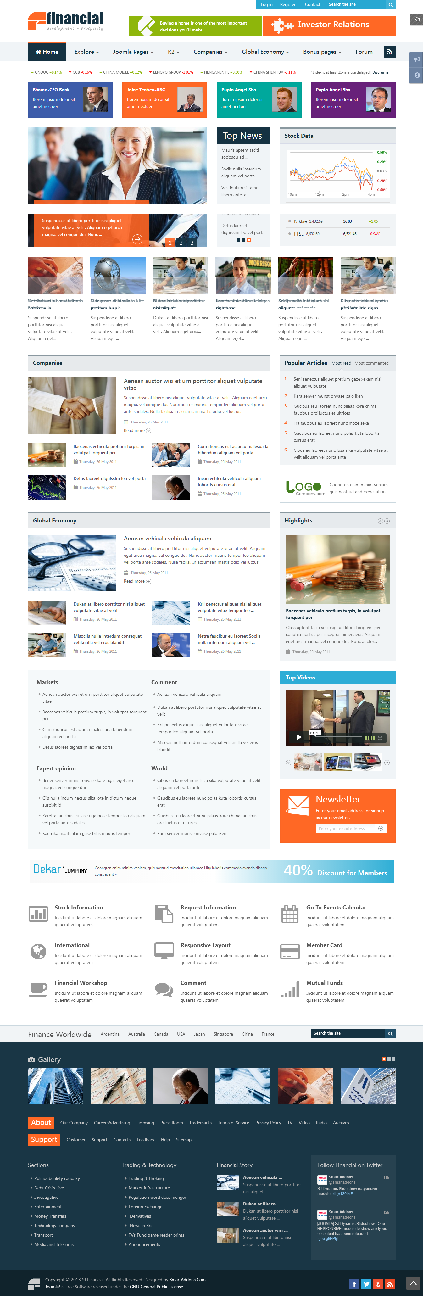 SJ Financial - Responsive Joomla Financial News Template - 01index.png