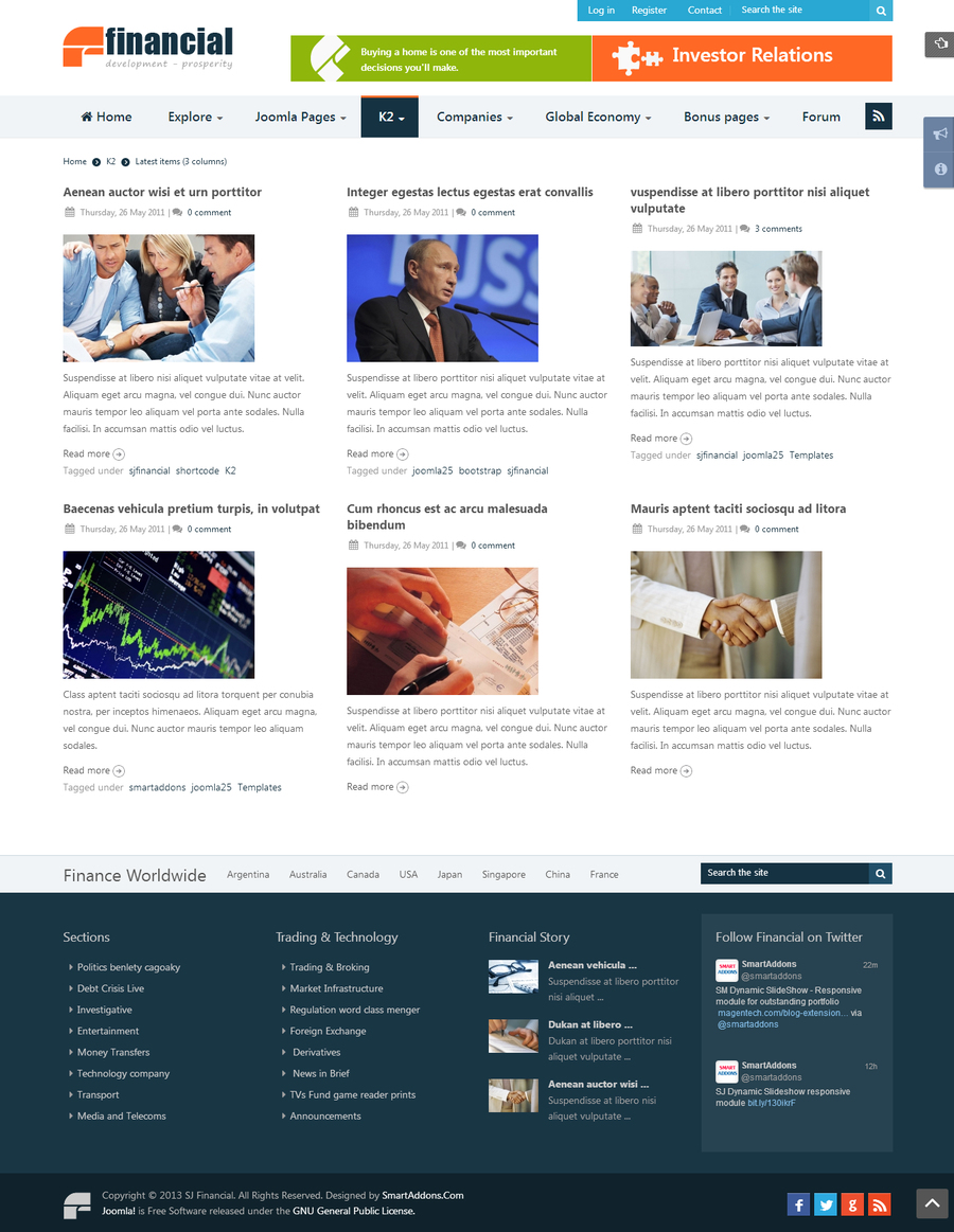SJ Financial - Responsive Joomla Financial News Template - 06k2item.jpg