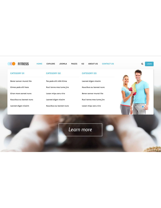 SJ Fitness - A Responsive Joomla Yoga Center Template - 03_menu.jpg