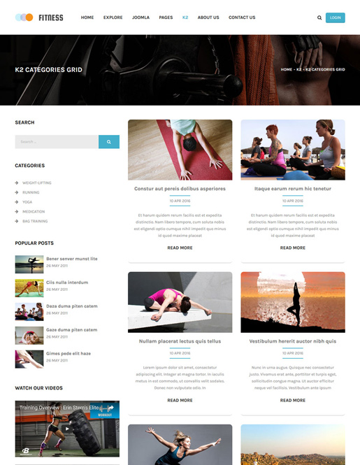SJ Fitness - A Responsive Joomla Yoga Center Template - 05_k2-grid.jpg