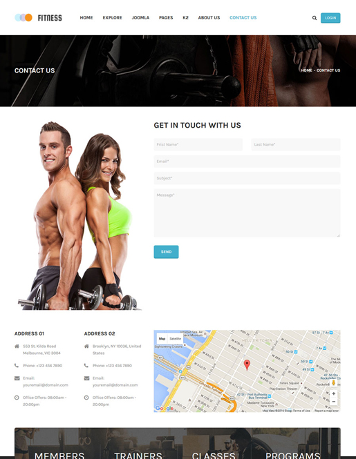 SJ Fitness - A Responsive Joomla Yoga Center Template - 08_contact.jpg