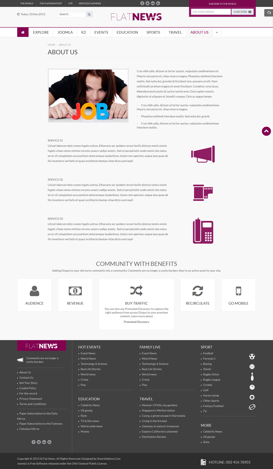 SJ Flat News - Responsive Joomla Template - 10-about-us.png