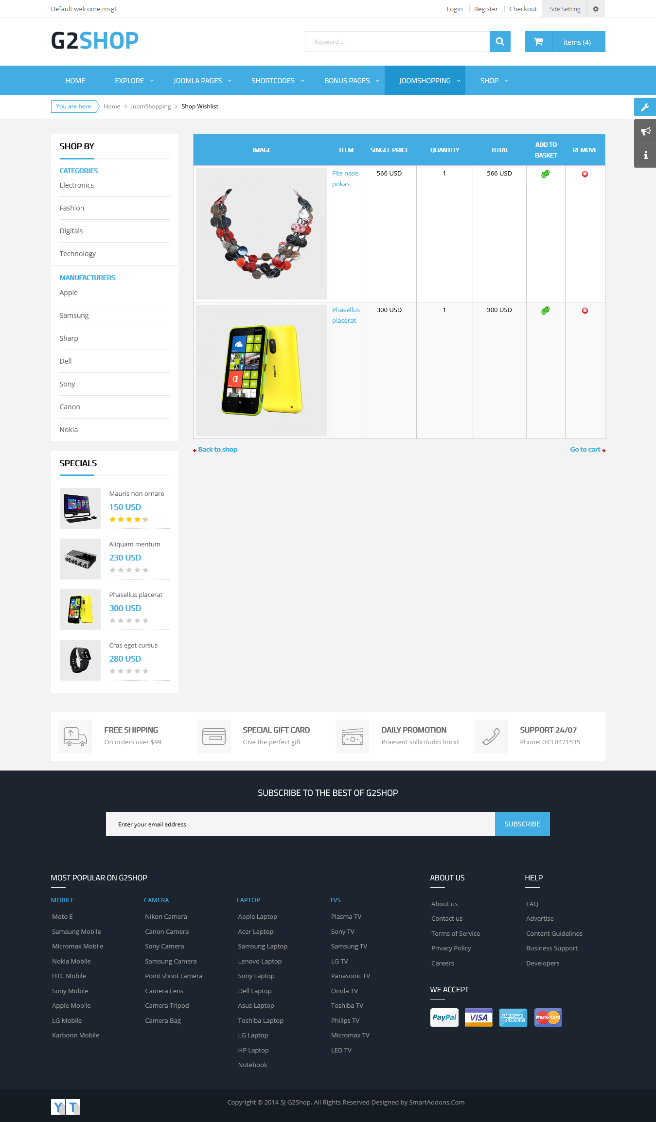 SJ G2Shop - Responsive Joomla eCommerce Template - 05_shop_wishlist.png
