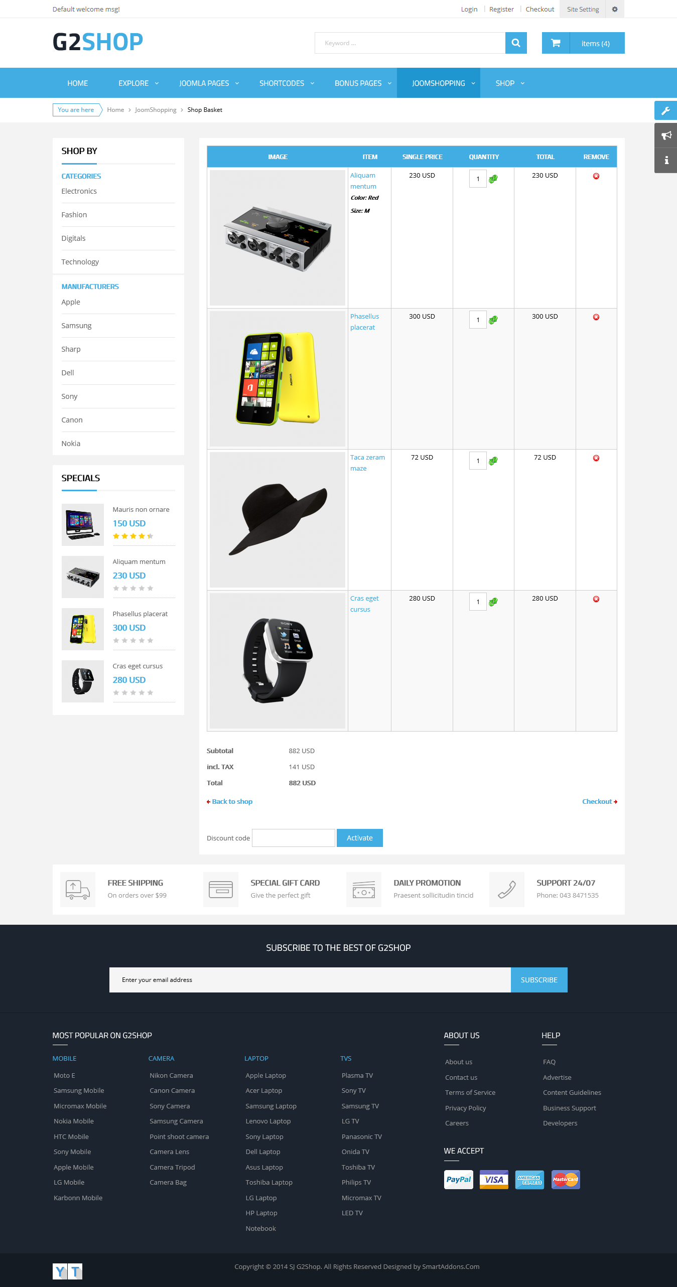 SJ G2Shop - Responsive Joomla eCommerce Template - 06_shop_basket.png