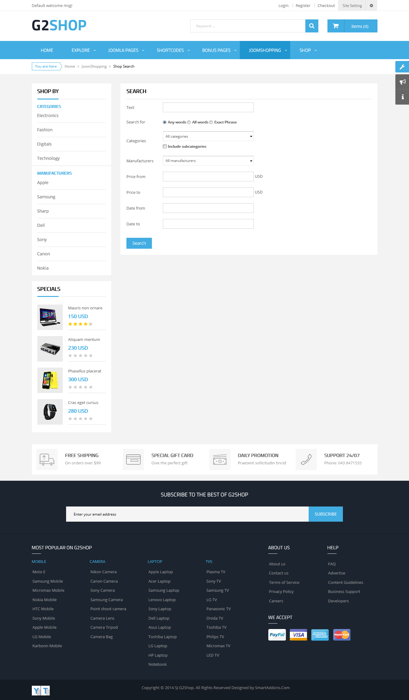 SJ G2Shop - Responsive Joomla eCommerce Template - 07_shop_advance_search.png
