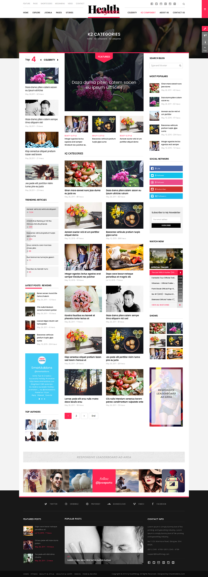 SJ HealthMag - Responsive Joomla news magazine Template - 04_category.png
