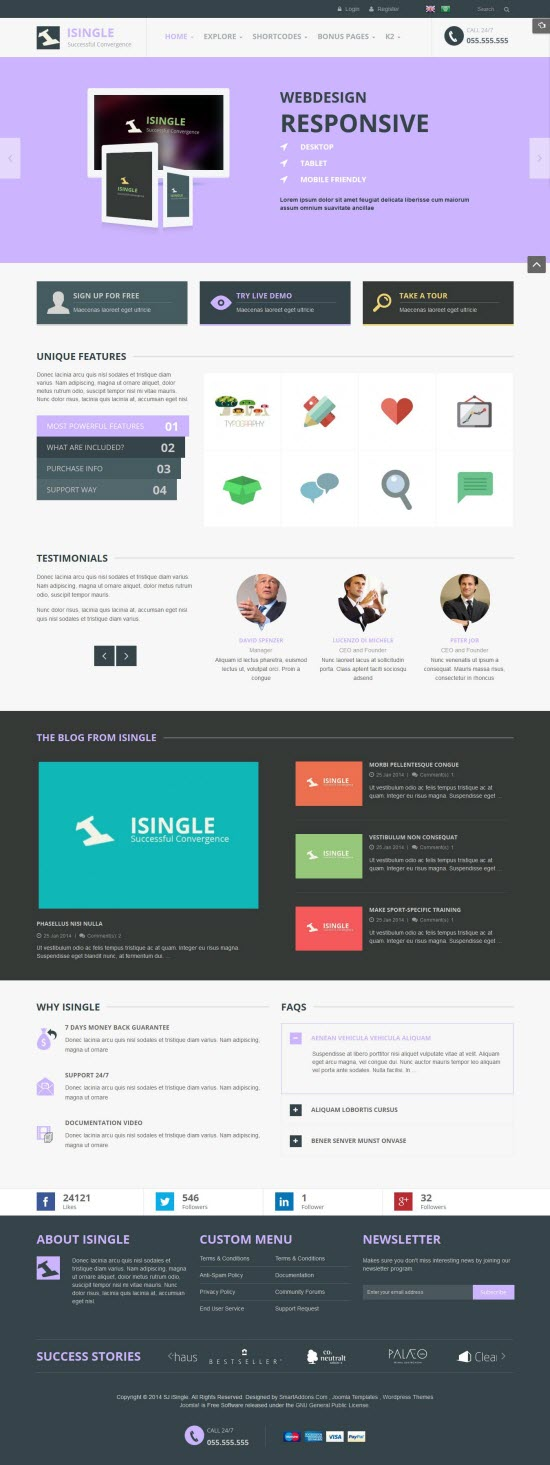 SJ iSingle - Responsive Joomla Business Template - 02-aqua.jpg