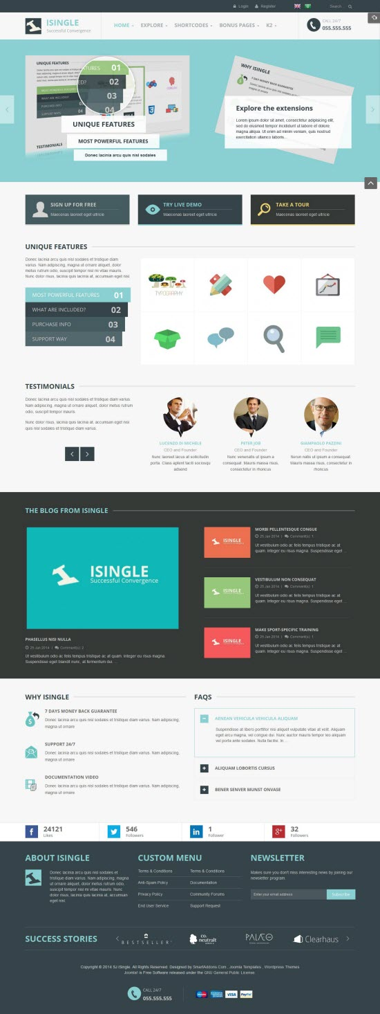 SJ iSingle - Responsive Joomla Business Template - 03-cyan.jpg