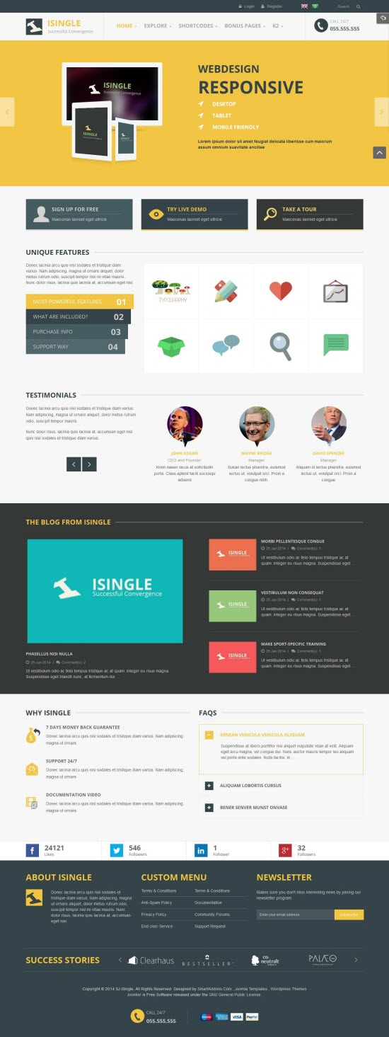 SJ iSingle - Responsive Joomla Business Template - 04-orange.jpg