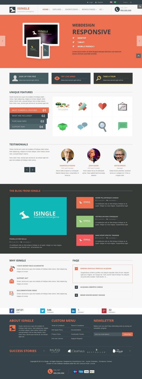 SJ iSingle - Responsive Joomla Business Template - 05-tomato.jpg