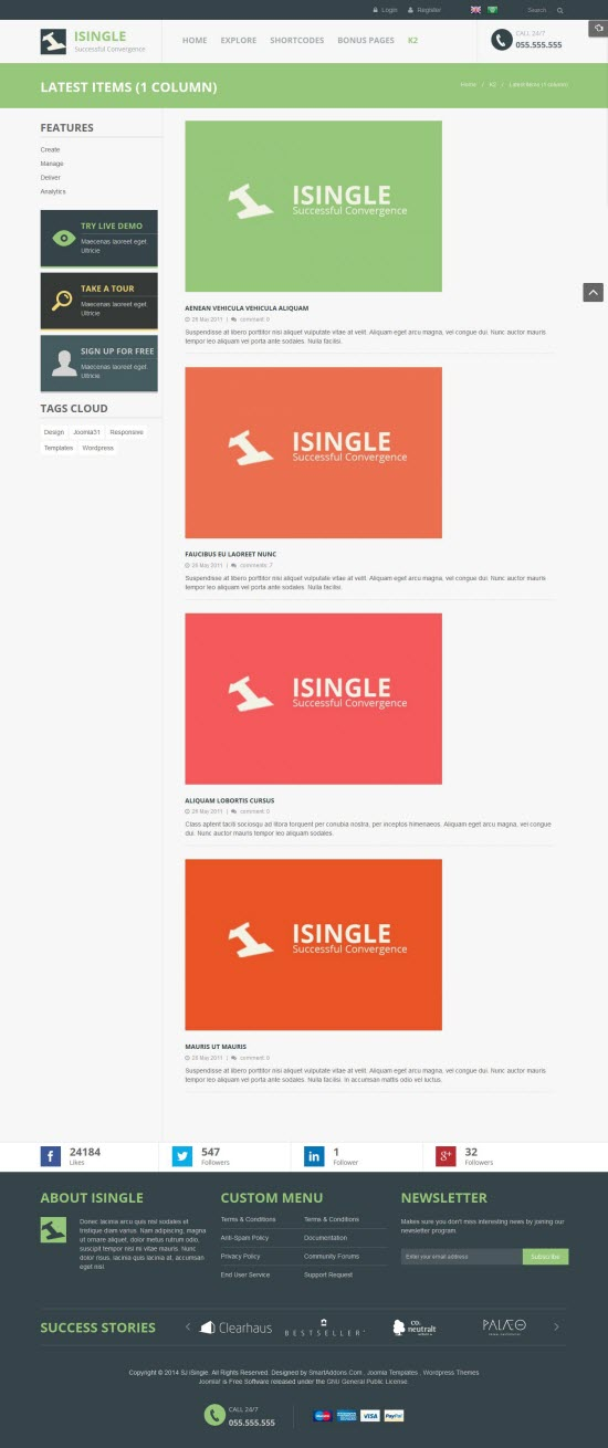 SJ iSingle - Responsive Joomla Business Template - 06-k2-category.jpg